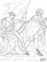Coloring Joseph Wife Potiphar Potiphars Reni Guido Printable Drawing sketch template
