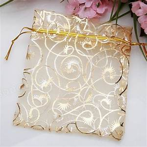 100pcs champagne color organza pouch wedding favor gift for Wedding favor gift bags