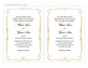 wedding invitations templates wedding invitation templates sle format