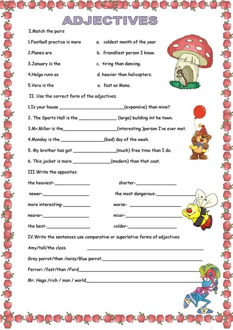 Adjectives For by Adjectives Worksheet Free Esl Printable Worksheets Made By Teachers