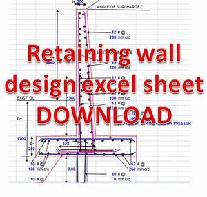Retaining wall reinforcement parameters