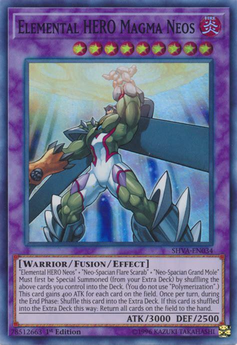 neos elemental hero magma yugioh yu gi oh shva wiki en034 x3 mint 1st rare near edition super wikia fandom