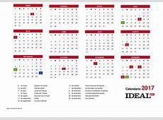 Calendario 2017 Para Imprimir En Blanco