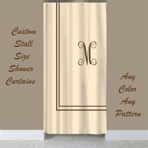 stall size simplicity custom shower curtain with by redbeauty