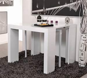 Table Blanc Laqué Extensible Ikea : table console extensible algo blanc brillant ~ Nature-et-papiers.com Idées de Décoration
