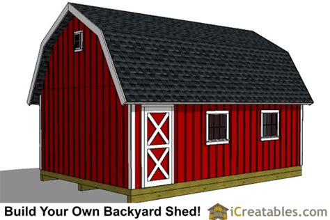 12x20 gambrel shed plans 12x20 barn shed plans