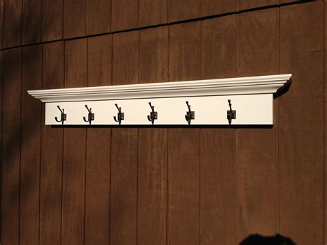 shelf with coat hooks entry way coat rack shelf with 6 hooks by rayscustomwoodwork