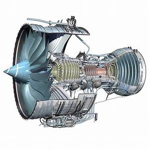 Cutaway Diagram Of Trent 1000 Jet Engine -