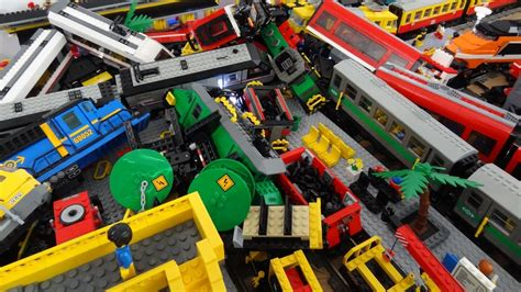 Lego Train Crash With 13 Lego Trains With Metroliner