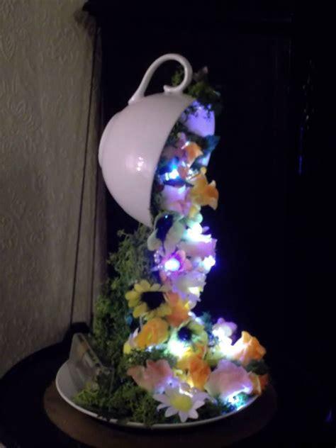 tiny lights    tea floating cups dioramas
