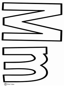 """Letter M Template 