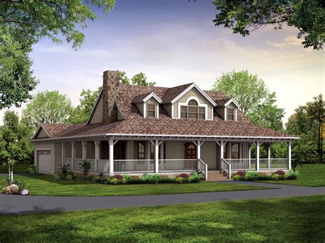 country house plans with porches one country house