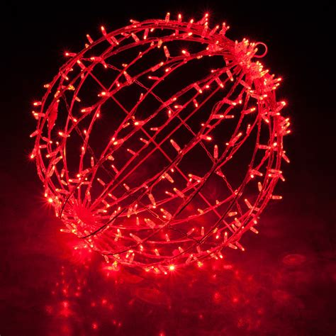 red led commercial mega sphere christmas light ball fold