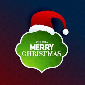merry christmas text frame with santa claus design ...