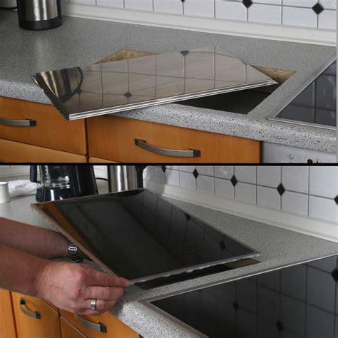 cuisine sans hotte planche a decouper à encastrer en granit noir solide et