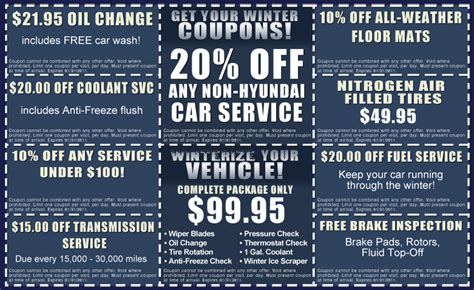 Hyundai Coupon hyundai service coupon winterize your vehicle chicago