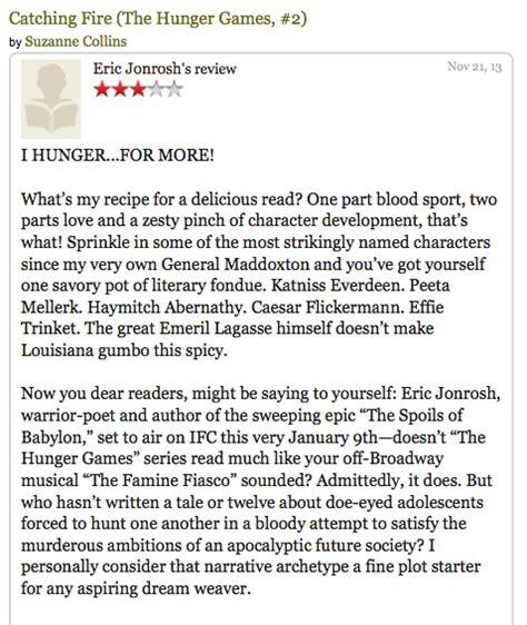 hunger a novel the spoils of babylon spoils author eric jonrosh takes