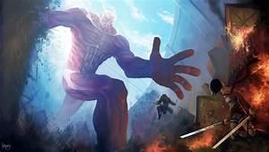 Anime Attack On Titans Fight HD Wallpaper ...