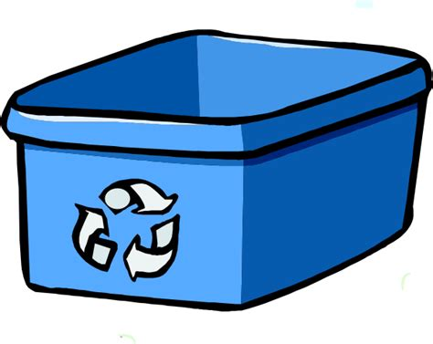 recycle bin clipart recycle bin blue clip at clker vector clip