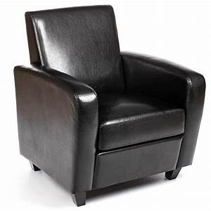 Fauteuil Cuir Noir : fauteuil club bocky simili cuir noir ~ Melissatoandfro.com Idées de Décoration