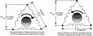 Running A Three Phase Ac Induction Motor On Single Phase Supply Source Voltage