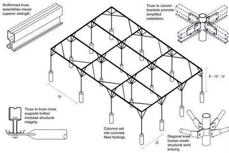 blueprint for houses rigid frame fixed roof shade house