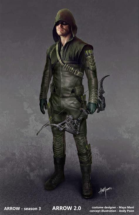 by design season 2 images concept du nouveau costume de arrow