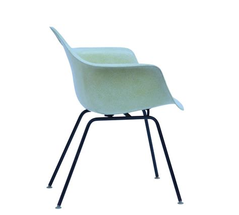 vintage yellow eames fiberglass chair for herman miller at