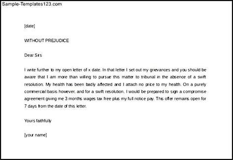 write legal letter template  prejudice sample