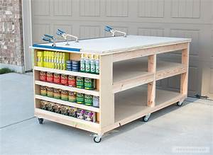 How To Build A DIY Mobile Workbench With Shelves