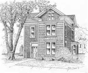 Old Houses Drawings Easy