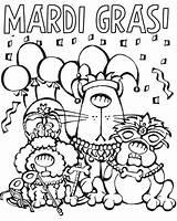 Mardi Gras Coloring Cartoon Printable Parade Characters Mask Tuesday Fat Posadas Las Sheets Masks Jester Cartoons Animals Getcolorings Carnival Celebration sketch template
