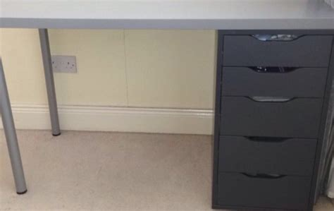 gray desk with drawers grey desk with drawers for sale in bettystown meath from
