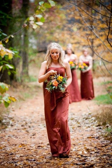 October Wedding Bridesmaids Dresses Strapless Dresses For