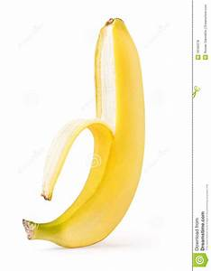 Half Peeled Banana Royalty Free Stock Photos - Image: 18160378