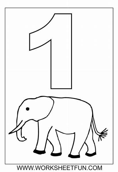 Preschool Number Coloring Worksheets Numbers Printable Printablee