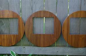 Handmade Round Mid Century Modern Picture Frame, Set Of