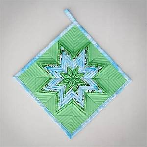 FREE Quilting Project – Folded Star Potholder Tutorial ...