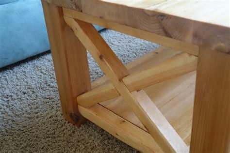 ana white rustic  coffee table  cedar diy projects