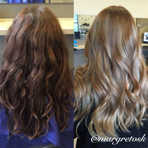Before And After To Brown Hair by Before And After Coloring From Brown To A Softer
