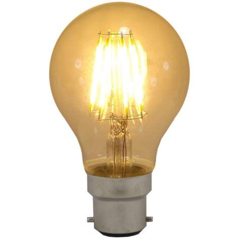6 watt bc b22mm decorative antique filament led gls bulb