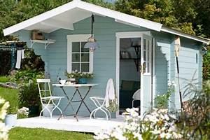 Farbe Für Gartenhaus : wundersch nes gartenh uschen in hellblau garten garten gartenhaus und schrebergarten ~ Watch28wear.com Haus und Dekorationen
