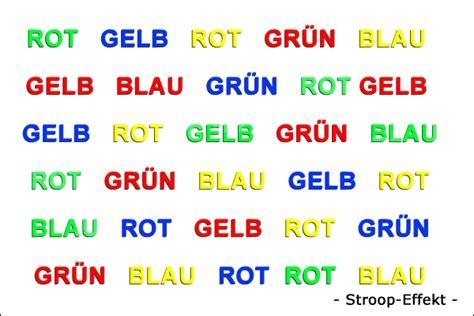 Rot Gelb Grün Blau by Stroop Was Ist Das