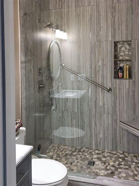 stylish grey tone texture guest bath bdm residential