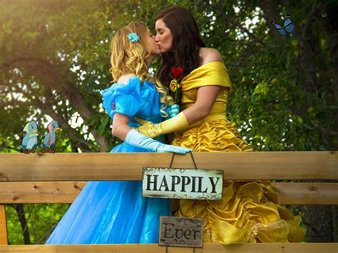 Same Sex Couple Celebrate Their Modern Day Fairytale By