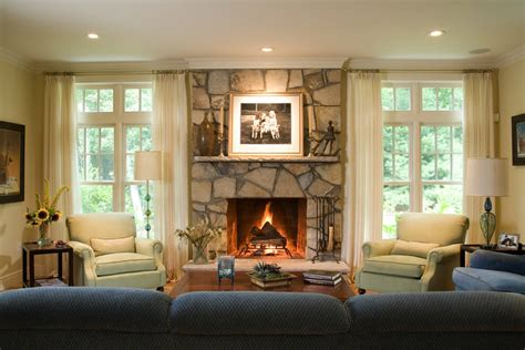 Living Room With Fireplace And Windows 44 charming living rooms with fireplaces marble buzz