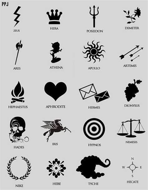 greek god symbol - Google Search (With images) | Percy jackson drawings, Greek tattoos