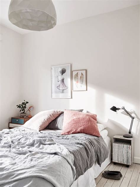 light pink and grey bedding 50 scandinavian ideas to transform your home into chic