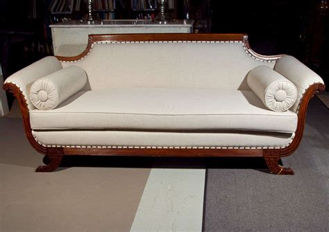 Duncan Phyfe Settee by Fabulous Duncan Phyfe Style Sofa All New Upholstery At 1stdibs