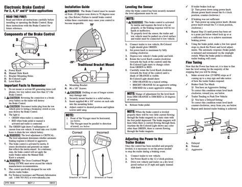 wiring diagram  electric brake controller
